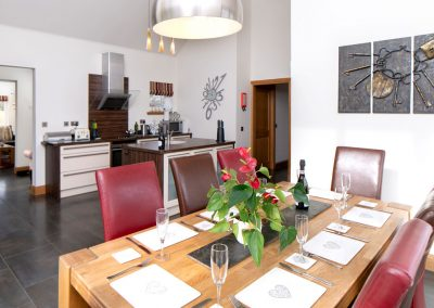 Open plan dining area